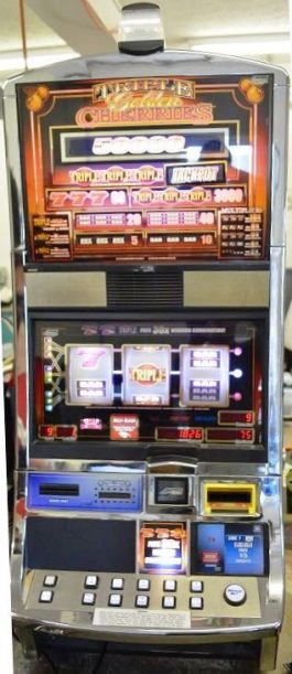 Triple Golden Cherries Williams Bluebird 1 Slot Machine by WMS for sale
