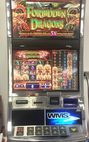 Forbidden Dragons Williams Bluebird 2 Slot Machine by WMS for sale