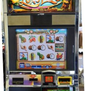 Luau Loot Williams Bluebird 1 Slot Machine by WMS for sale