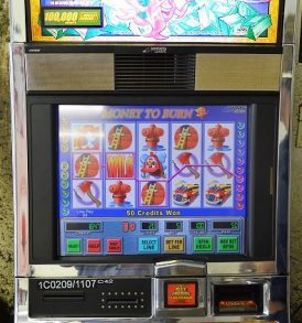 Money to Burn Williams Bluebird 1 Slot Machine by WMS for sale