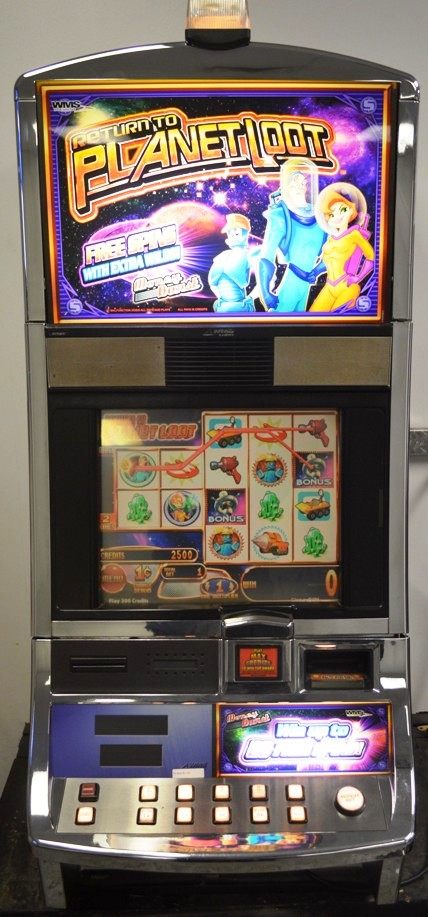 Return to Planet Loot Williams Bluebird 1 Slot Machine by WMS for sale