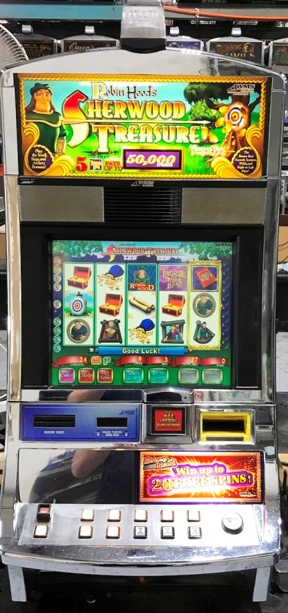 robin hoods sherwood treasure williams bluebird 1 slot machine